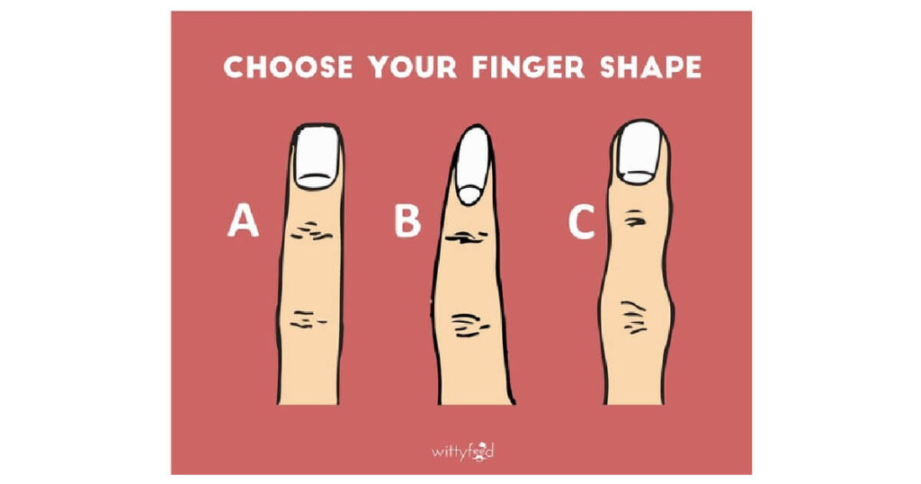 What your finger shape says about your personality