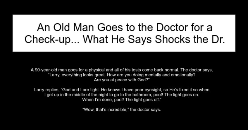 An Old Man Goes to the Doctor for a Check-up