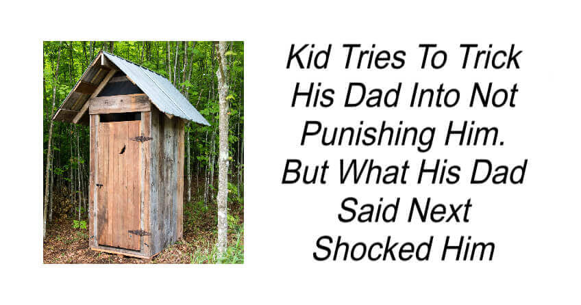 Kid Tries To Trick His Dad Into Not Punishing Him