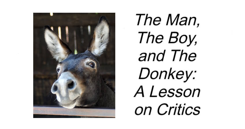 The Man The Boy and The Donkey