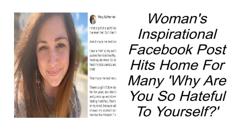 Woman's Inspirational Facebook Post Hits Home For Many