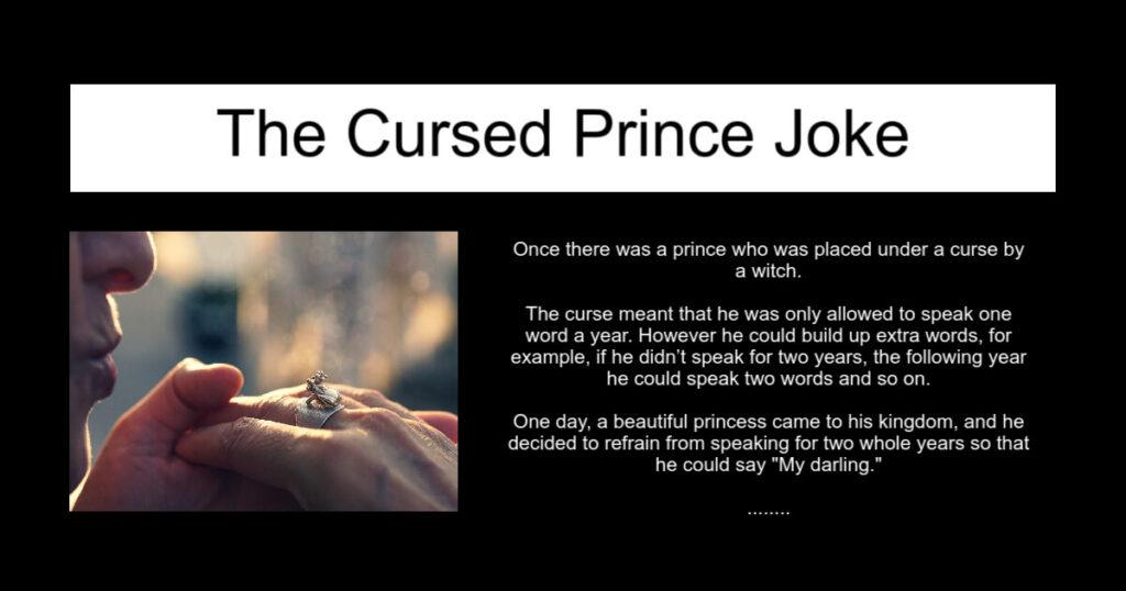 The Cursed Prince Joke