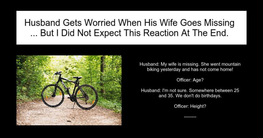 Husband Gets Worried When His Wife Goes Missing Joke